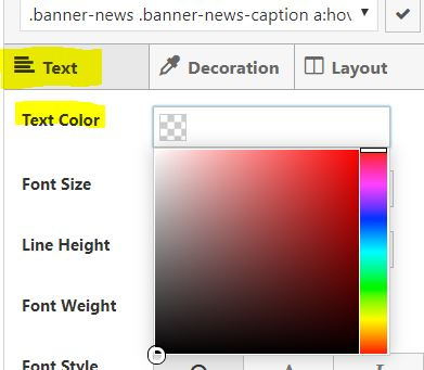 Changing Colour in SiteOrigin CSS to Change Heading Colour in Gutenberg